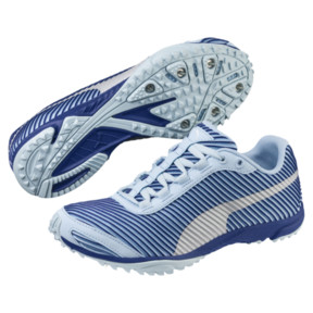 Thumbnail 2 of evoSPEED Haraka 5 Women's Track Spikes, CERULN-SodalteBlue-Slvr, medium