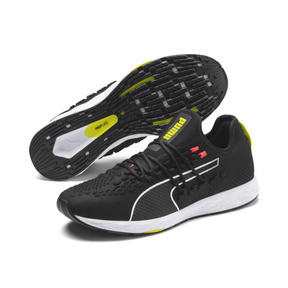 Thumbnail 3 of SPEED RACER Men's Running Shoes, Black-Nrgy Red-Yellow Alert, medium