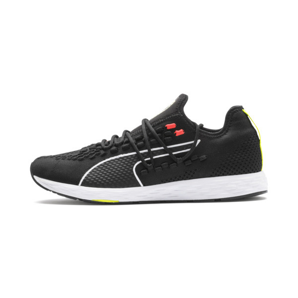 SPEED RACER Men's Running Shoes, Black-Nrgy Red-Yellow Alert, large