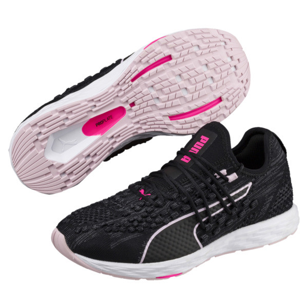 SPEED 300 RACER Women's Running Shoes, Black-WinsomeOrchid-KPINK, large