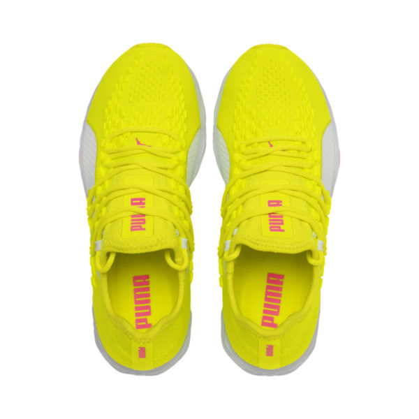SPEED 300 RACER Women's Running Shoes, Yellow-White-Pink Alert, large