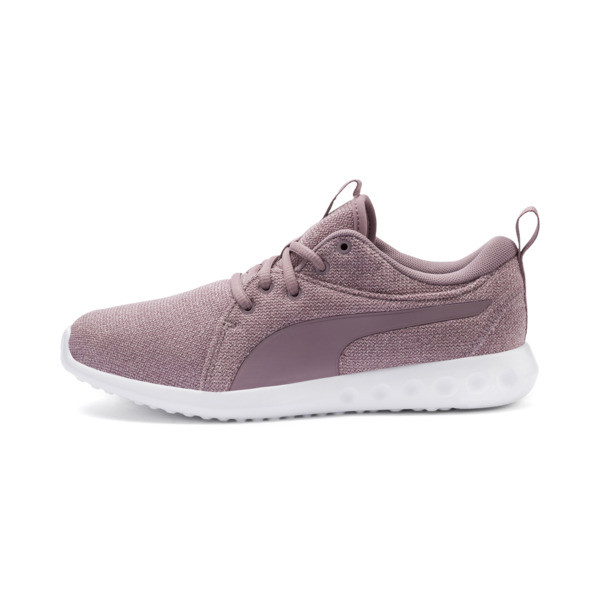 Carson 2 Knit Women's Running Shoes, Elderberry-Puma White, large