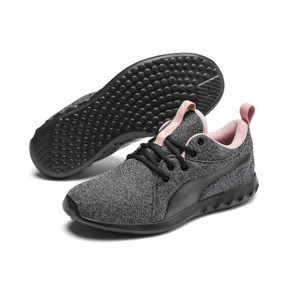Thumbnail 2 of Carson 2 Knit Women's Running Shoes, Puma Black-White-Bridal Rose, medium