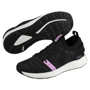 Thumbnail 2 of NRGY Neko Engineer Knit Women's Running Shoes, Puma Black-Iron Gate-Orchid, medium