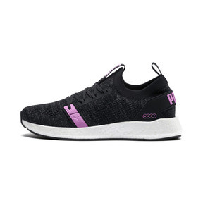 Thumbnail 1 of NRGY Neko Engineer Knit Women's Running Shoes, Puma Black-Iron Gate-Orchid, medium