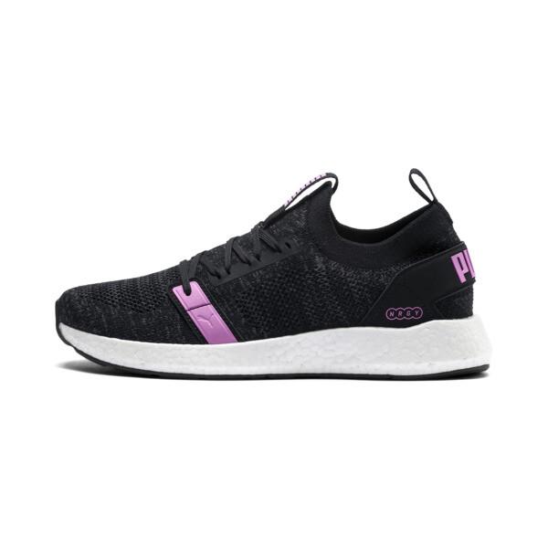 NRGY Neko Engineer Knit Women's Training Shoes, Puma Black-Iron Gate-Orchid, large
