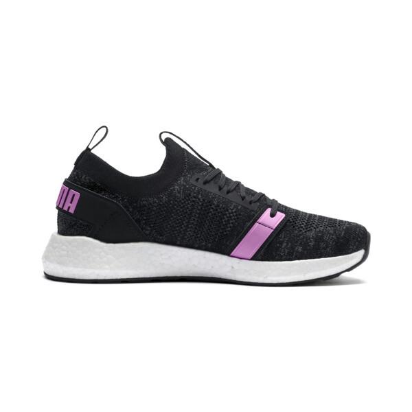 NRGY Neko Engineer Knit Women's Running Shoes, Puma Black-Iron Gate-Orchid, large
