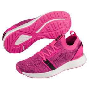 Thumbnail 2 of NRGY Neko Engineer Knit Women's Training Shoes, KNOCKOUT PINK-Puma Black, medium