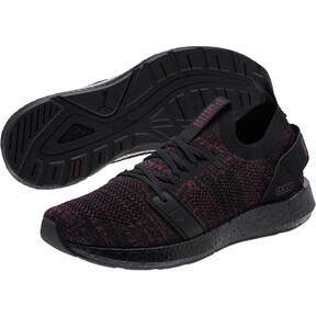 Thumbnail 2 of NRGY Neko Engineer Knit Women's Running Shoes, Puma Black-Fig, medium