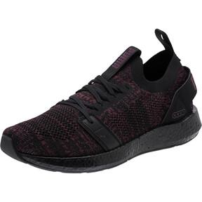 Thumbnail 1 of NRGY Neko Engineer Knit Women's Running Shoes, Puma Black-Fig, medium