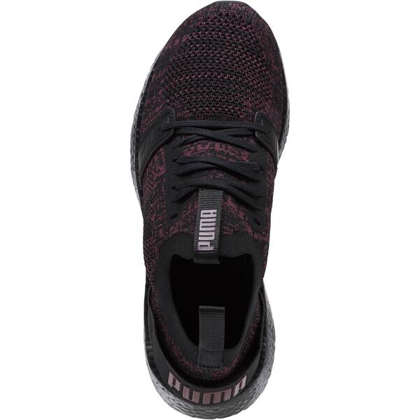 NRGY Neko Engineer Knit Women's Running Shoes, Puma Black-Fig, large