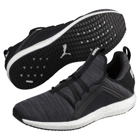 Thumbnail 2 of Mega NRGY Heather Knit Men's Running Shoes, Puma Black-Iron Gate-White, medium