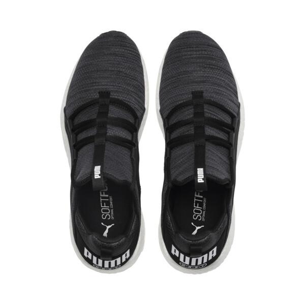 Mega NRGY Heather Knit Men's Running Shoes, Puma Black-Iron Gate-White, large