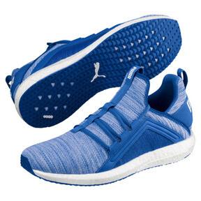 Thumbnail 2 of Mega NRGY Heather Knit Men's Running Shoes, Strong Blue-Puma White, medium