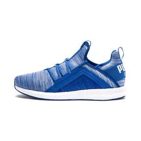 Thumbnail 1 of Mega NRGY Heather Knit Men's Running Shoes, Strong Blue-Puma White, medium