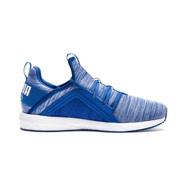 Mega NRGY Heather Knit Men's Running Shoes, Strong Blue-Puma White, large