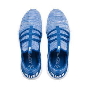 Thumbnail 6 of Mega NRGY Heather Knit Men's Running Shoes, Strong Blue-Puma White, medium