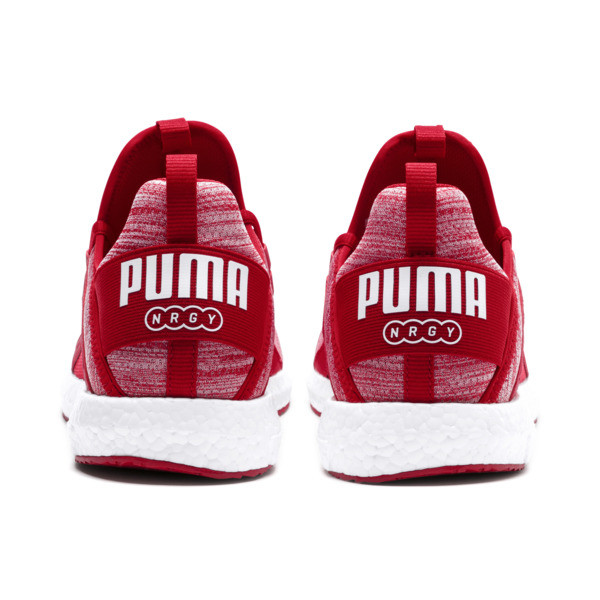 Mega NRGY Heather Knit Men's Running Shoes, Ribbon Red-Puma Black, large