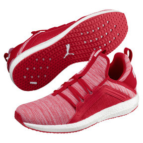 Thumbnail 2 of Mega NRGY Heather Knit Men's Running Shoes, Ribbon Red-Puma Black, medium