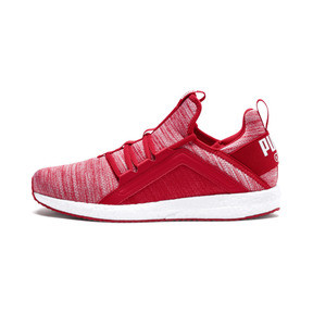 Thumbnail 1 of Mega NRGY Heather Knit Men's Running Shoes, Ribbon Red-Puma Black, medium