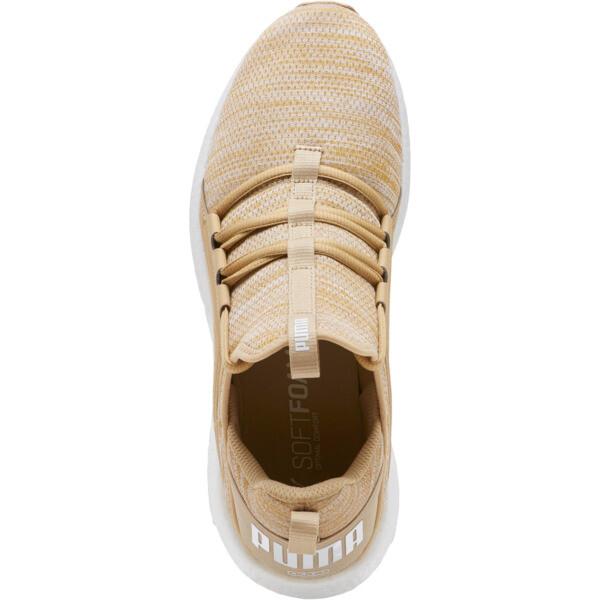 Mega NRGY Heather Knit Men's Running Shoes, Taos Taupe-Puma White, large