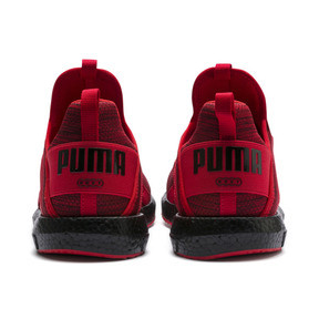 Thumbnail 4 of Mega NRGY Heather Knit Men's Running Shoes, High Risk Red-Puma Black, medium