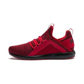 Thumbnail 1 of Mega NRGY Heather Knit Men's Running Shoes, High Risk Red-Puma Black, medium