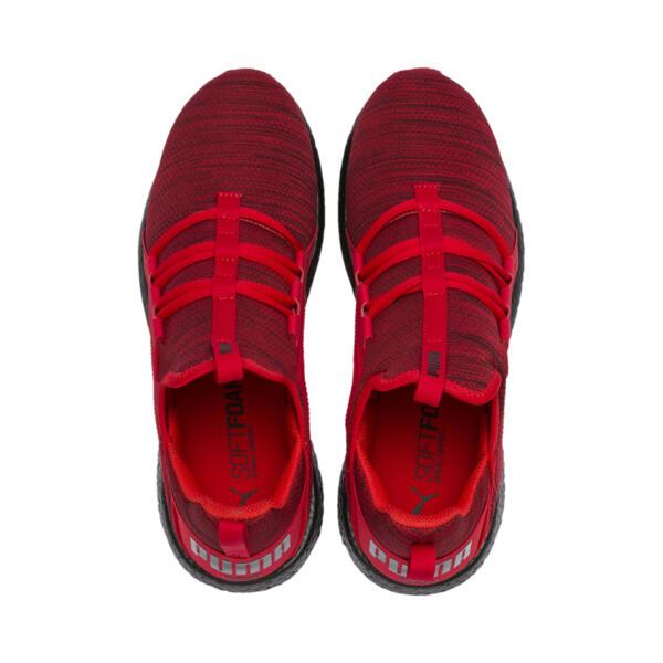 Mega NRGY Heather Knit Men's Running Shoes, High Risk Red-Puma Black, large