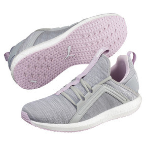 Thumbnail 2 of Mega NRGY Heather Knit Women's Running Shoes, Quarry-Winsome Orchid-White, medium