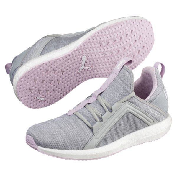 Mega NRGY Heather Knit Women's Running Shoes, Quarry-Winsome Orchid-White, large