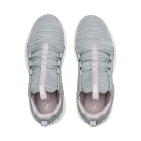Thumbnail 6 of Mega NRGY Heather Knit Women's Running Shoes, Quarry-Winsome Orchid-White, medium