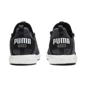 Thumbnail 4 of Mega NRGY Heather Knit Women's Running Shoes, Black-Iron Gate-White, medium