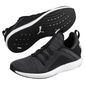 Thumbnail 2 of Mega NRGY Heather Knit Women's Running Shoes, Black-Iron Gate-White, medium