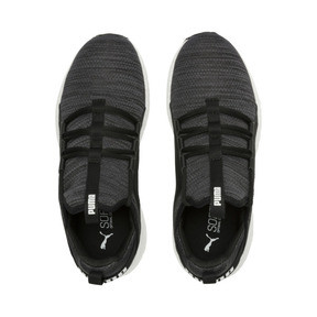 Thumbnail 6 of Mega NRGY Heather Knit Women's Running Shoes, Black-Iron Gate-White, medium