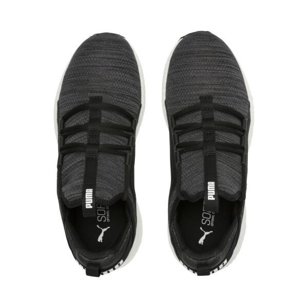 Mega NRGY Heather Knit Women's Running Shoes, Black-Iron Gate-White, large