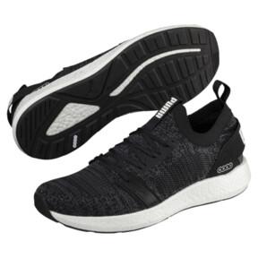 Thumbnail 2 of NRGY Neko Engineer Knit Men's Running Shoes, Puma Black-Iron Gate, medium