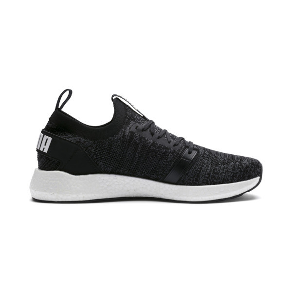 NRGY Neko Engineer Knit Men's Running Shoes, Puma Black-Iron Gate, large