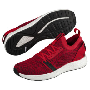 Thumbnail 2 of NRGY Neko Engineer Knit Men's Running Shoes, Ribbon Red-White-Black, medium