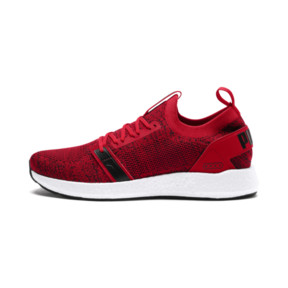 Thumbnail 1 of NRGY Neko Engineer Knit Men's Running Shoes, Ribbon Red-White-Black, medium