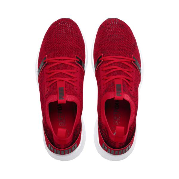 NRGY Neko Engineer Knit Men's Running Shoes, Ribbon Red-White-Black, large