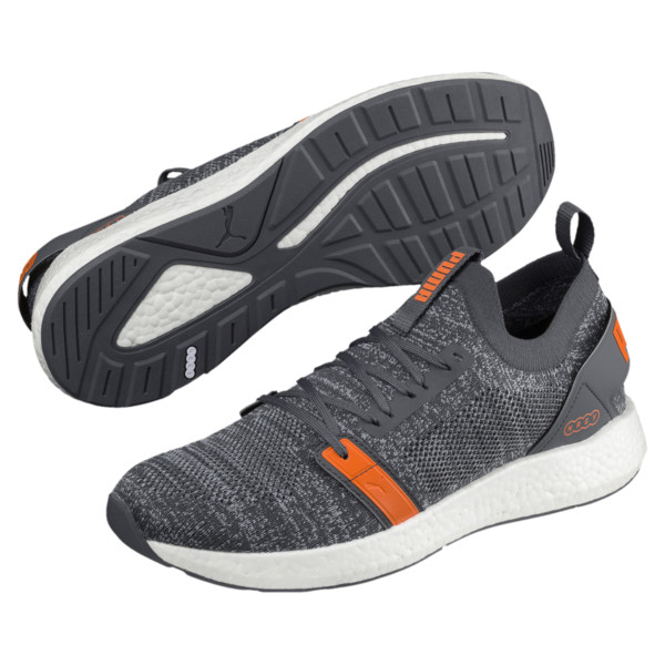 NRGY Neko Engineer Knit Men's Running Shoes, IronGate-Firecracker-Quarry, large