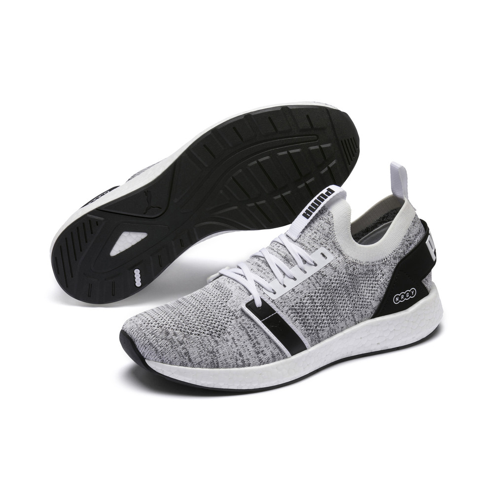 Купить Для бега, PUMA - male - Кроссовки NRGY Neko Engineer Knit – Puma White-Puma Black – 40.5