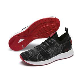 Thumbnail 2 of NRGY Neko Engineer Knit Men's Running Shoes, Puma Black-High Risk Red, medium