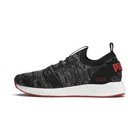 Thumbnail 1 of NRGY Neko Engineer Knit Men's Running Shoes, Puma Black-High Risk Red, medium
