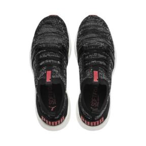Thumbnail 6 of NRGY Neko Engineer Knit Men's Running Shoes, Puma Black-High Risk Red, medium