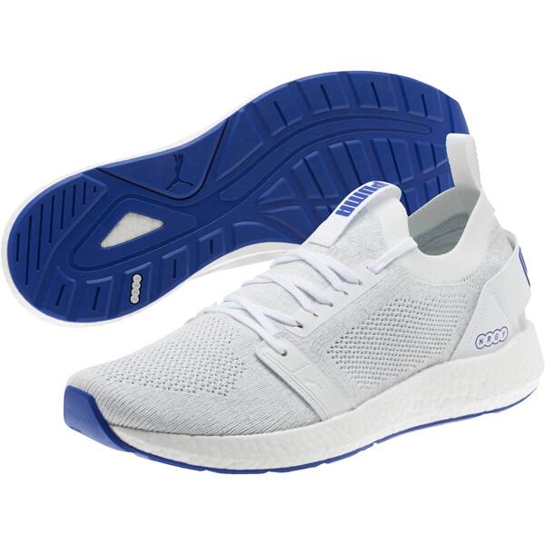 NRGY Neko Engineer Knit Men's Running Shoes, Puma White-Surf The Web, large