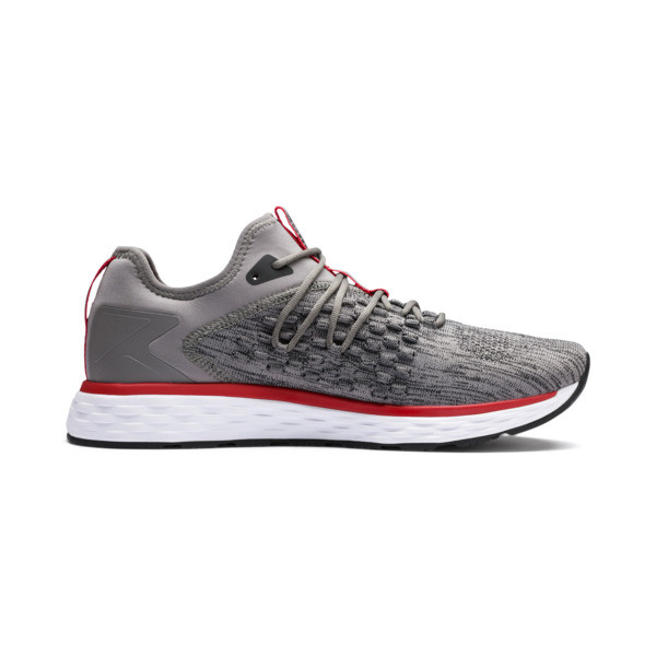 SPEED FUSEFIT Men's Running Shoes, Steel Gray-Red-Black, large