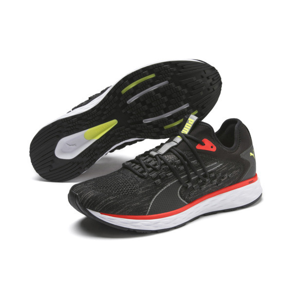 SPEED FUSEFIT Men's Running Shoes, Puma Black-Nrgy Red, large