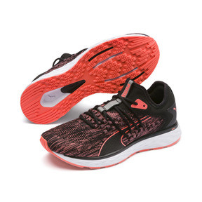 Thumbnail 3 of Chaussure de course SPEED FUSEFIT pour femme, Puma Black-Fluo Peach, medium