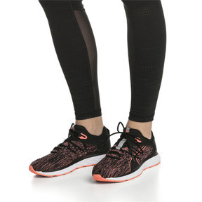 Thumbnail 2 of Chaussure de course SPEED FUSEFIT pour femme, Puma Black-Fluo Peach, medium